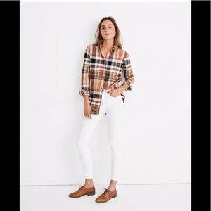 Madewell Ex-Boyfriend Seconda Plaid Shirt Sz M NWT